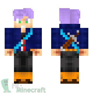 Aperçu de la skin Minecraft Trunks - Dragon Ball Z