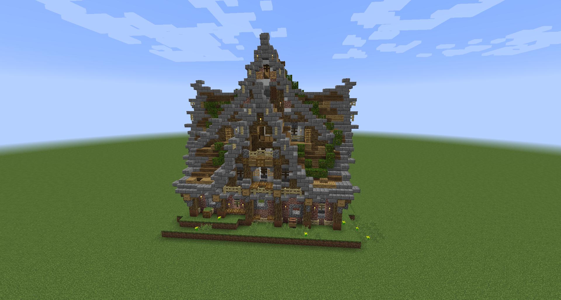 Minecraft Structure Minecraft Maison Médiévale