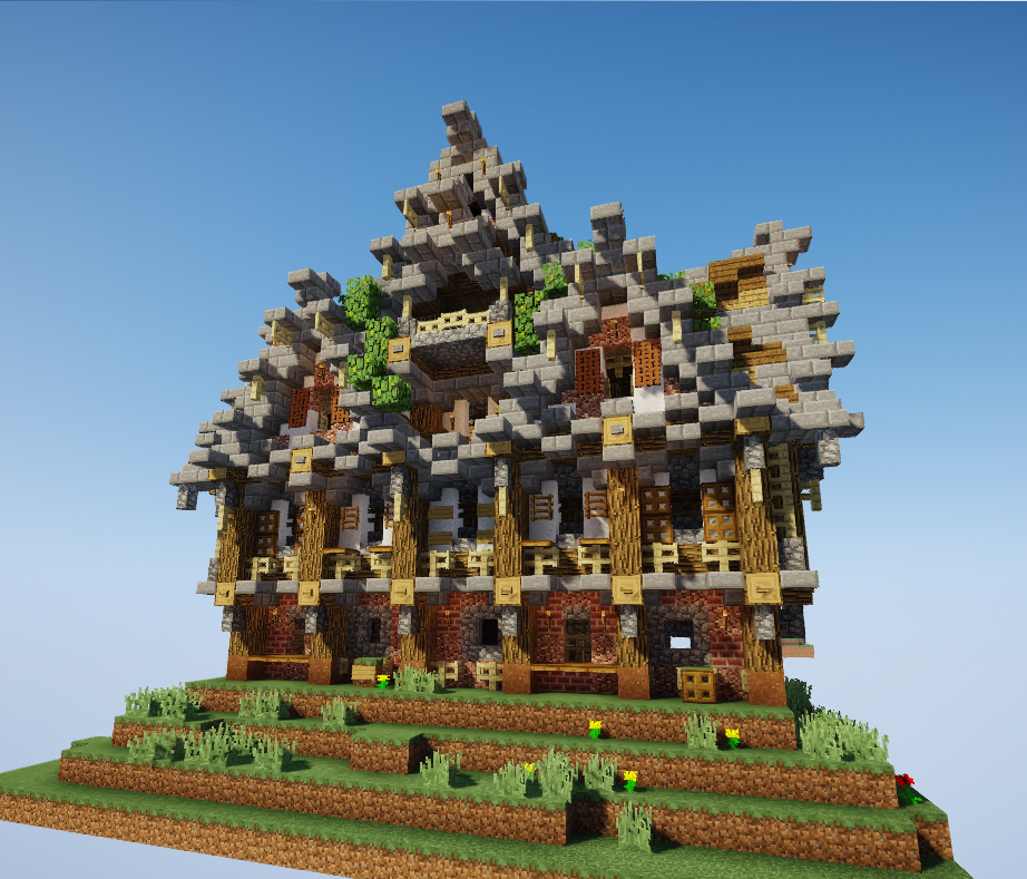 Minecraft Maison Médiévale Plan