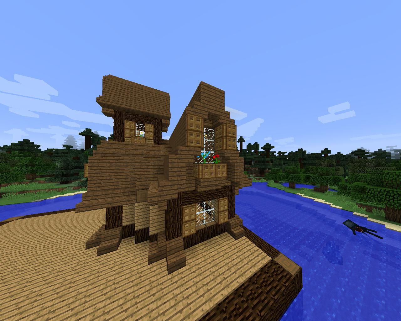 Minecraft Structure Minecraft Maison Médiévale En Sapin Et