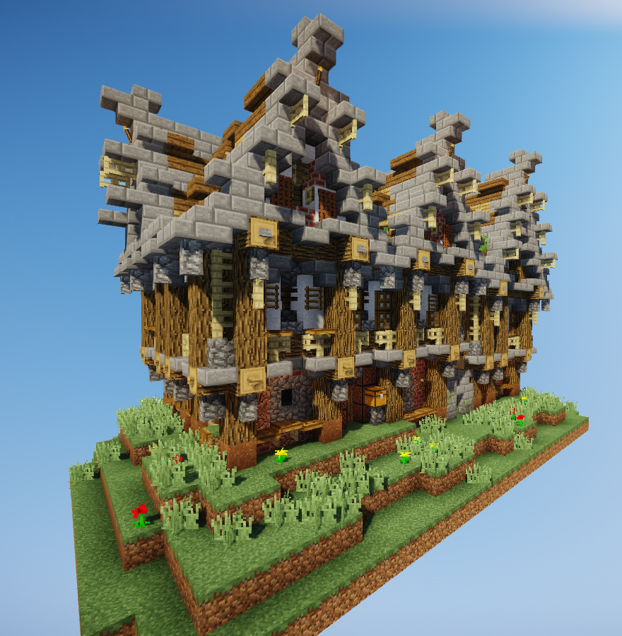 Minecraft Structure Minecraft Maison De Noble Médiévale