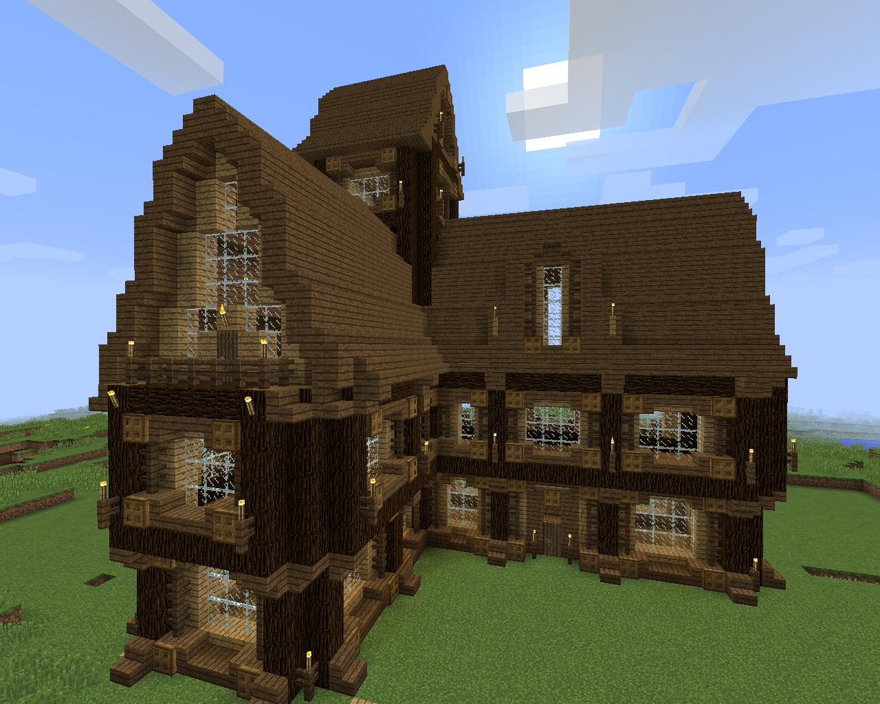 Minecraft Structure Minecraft Manoir Médiéval En Angle