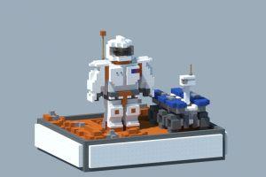 Astronaute et Rover sur Mars