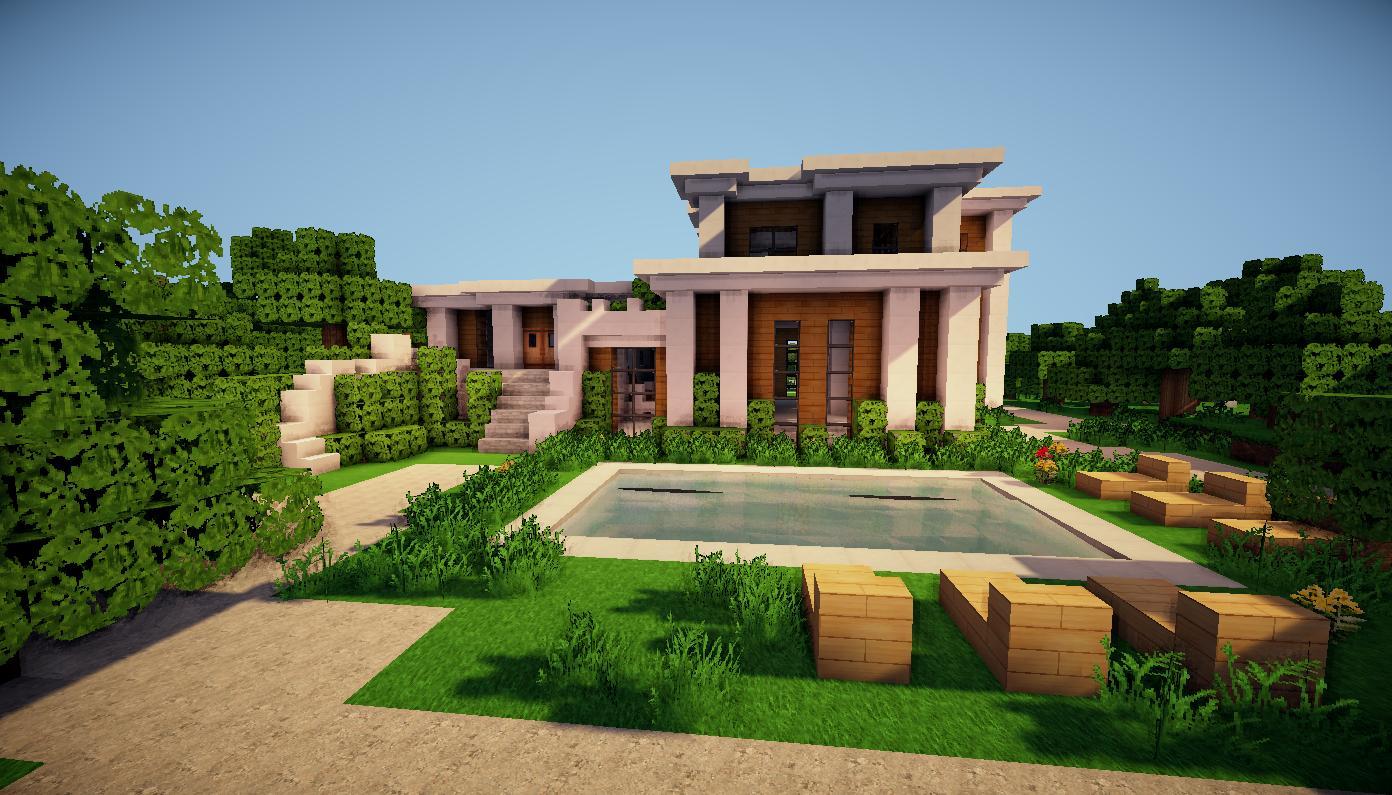 Minecraft fond d 39 cran minecraft for Casa moderna wallpaper
