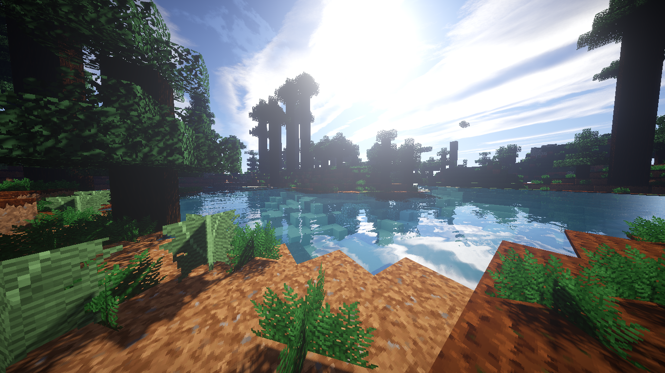 Fond Minecraft Shader Hd