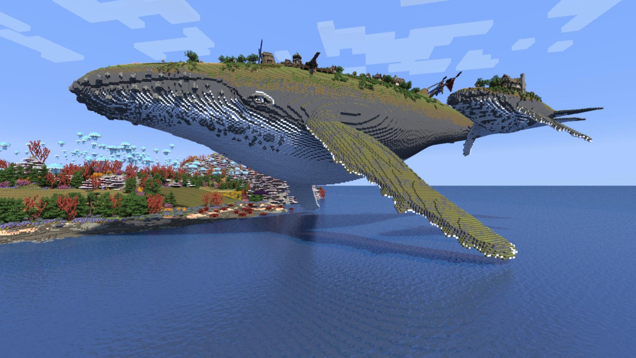 Minecraft fond d 39 cran minecraft - Pokemon baleine ...